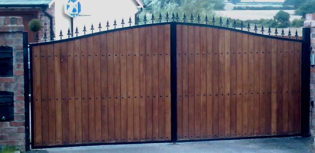Wooden Clad Iron Gates Wooden Clad Gates Steel Framed Timber Gates